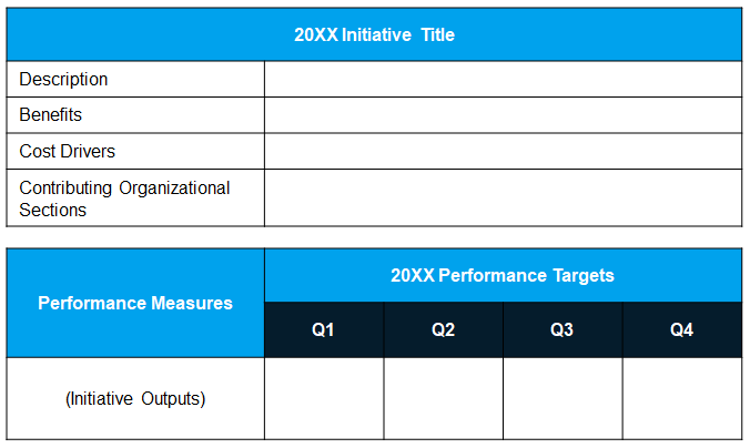 Initiative & Details Table